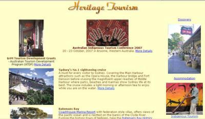 Exemplo de Divulgação On-line do Património pela Indústria do Turismo, com apoios Oficiais -