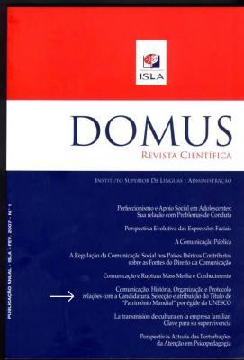 """Artigo de Artur Santos publicado na Revista Científica """"DOMUS"""""""